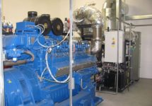 Financing of the combined cycle power plant of 0.8 MWe powered by the synthetic gas produced from biomass.